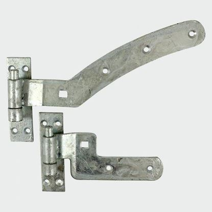 "Picture of CURVED RAIL HINGE SET ""LEFT"" CRHLG300GALV X 2 (300mm LONG)"