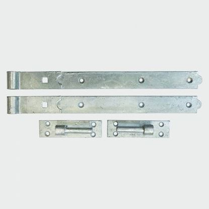 Picture of STRAIGHT HOOK AND BANDS HBS400GALV X 2 (400mm LONG)