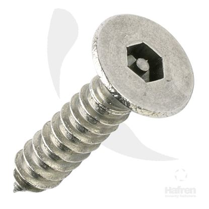 Picture of 3.5 X 25MM CSK A2 PIN HEX SELF TAPPER X 100