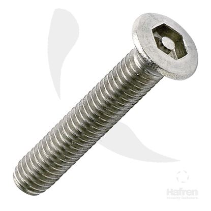 Picture of M3.5 X 25MM COUNTERSUNK A2 STAINLESS STEEL PIN HEX MACHINE SCREW X 100