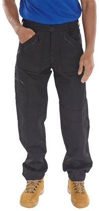 Picture of ACTION WORK TROUSERS BLACK 34S