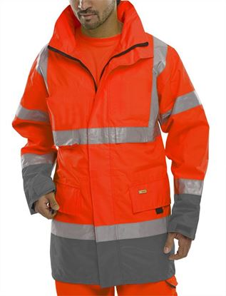 Picture of BD109 RE/GY TRAFFIC JACKET LGE