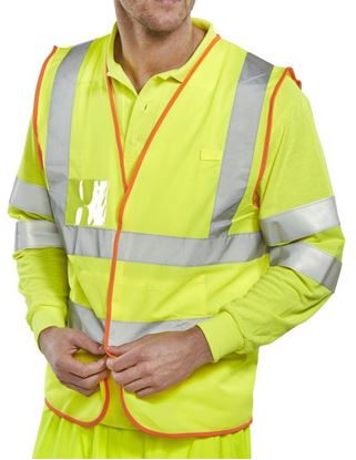 Picture of BSAFE EN471 HI-VIS VEST SY LG