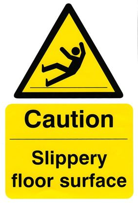Picture of CAUTION SLIPPERY FLOOR SURFACE 200MM X 300MM (PACK 5)