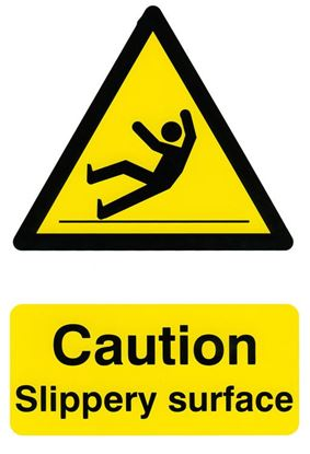 Picture of CAUTION SLIPPERY SURFACE 200MM X 300MM