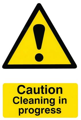 Picture of CAUTION CLEANING IN PROGRESS 200MM X 300MM