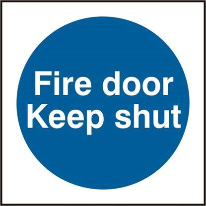 Picture of FIRE DOOR KEEP SHUT SAV (PK5) 100MM X 100MM