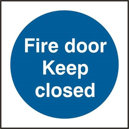 Picture of FIRE DOOR KEEP CLOSED SAV(PK5) 100MM X 100MM