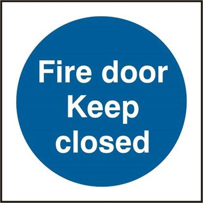 Picture of FIRE DOOR KEEP CLOSED SAV(PK5) 150MM X 150MM