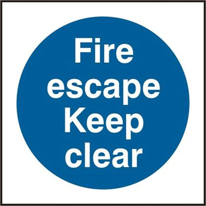 Picture of FIRE ESCAPE KEEP CLEAR SAV PK5 100MM X 100MM