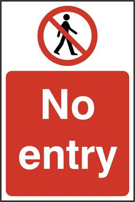 Picture of NO ENTRY SAV  (PK5) 200MM X 300MM