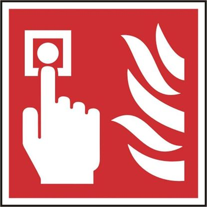 Picture of FIRE ALARM CALL POINT SAV(PK5) 100MM X 100MM