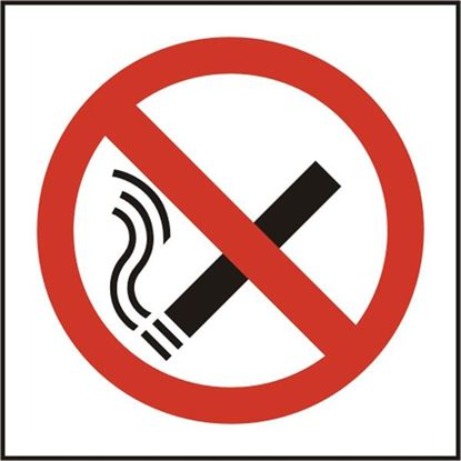Picture of NO SMOKING SYMBOL SAV (PK5) 100MM X 100MM