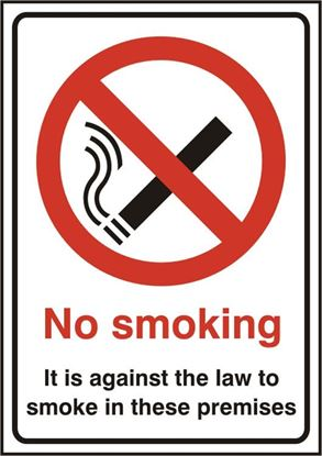 Picture of NO SMOKING RPVC (PK5) 148MM X 210MM