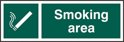 Picture of SMOKING AREA RPVC (PK5) 300MM X 100MM
