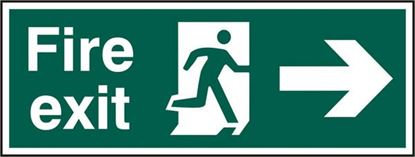 Picture of FIRE EXIT MAN ARROW RIGHT RPVC (PK5) 400MM X 150MM
