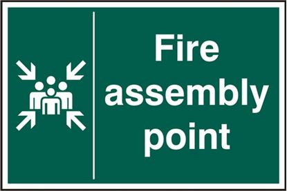 Picture of FIRE ASSEMBLY POINT RPVC (PK5) 200MM X 300MM