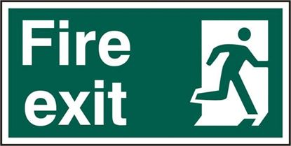 Picture of FIRE EXIT MAN RIGHT RPVC (PK5) 300MM X 150MM