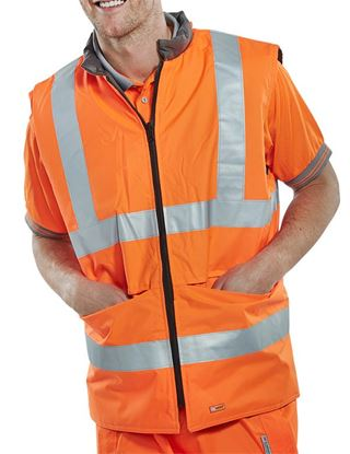 Picture of BODYWARMER ENG ORANGE 5XL