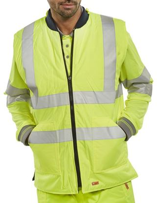 Picture of BODYWARMER ENG SAT/YELLOW L