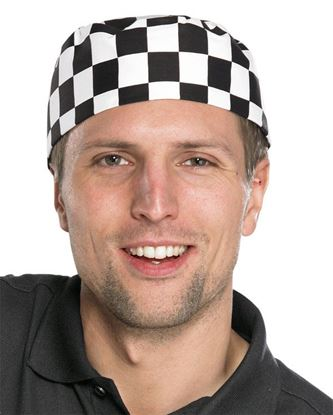 Picture of CHEFS SKULL CAP BL/W