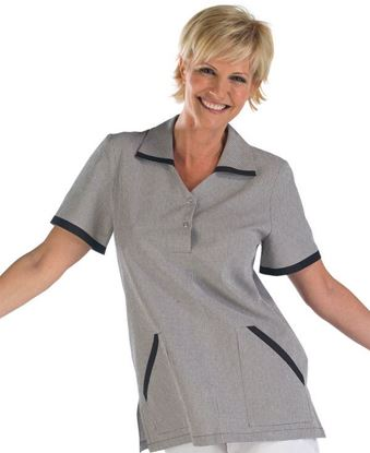 Picture of LADIES CHECK TUNIC BL M