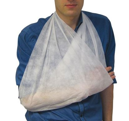 Picture of CLICK MEDICAL 30gms NON WOVEN TRIANGULAR BANDAGE PK 10