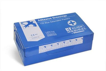 Picture of CLICK MEDICAL BLUE DETECTABLE PLASTERS 120 ASSORTED