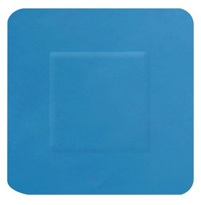 Picture of CLICK MEDICAL BLUE DETECTABLE PLASTERS 100 SQUARE 38x38mm