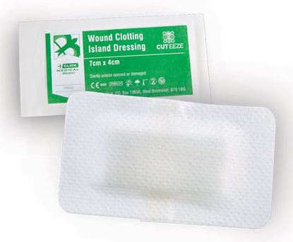 Picture of CLICK MEDICAL CUT-EEZE HAEMOSTATIC DRESSING 7x4cm