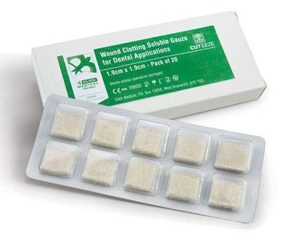 Picture of CLICK MEDICAL CUT-EEZE HAEMOSTATIC DENTAL GAUZE