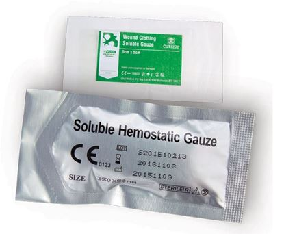 Picture of CLICK MEDICAL CUT-EEZE SOLUBLE DRESSING 5x5cm