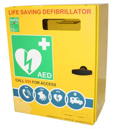 Picture of DEFIBRILLATOR STAINLESS STEEL CABINET NO LOCK & ELECTRICS