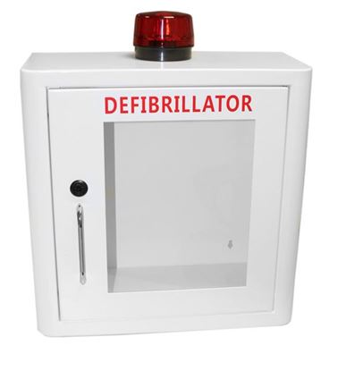 Picture of DEFIBRILLATOR MILD STEEL CABINET INTERNAL WHITE