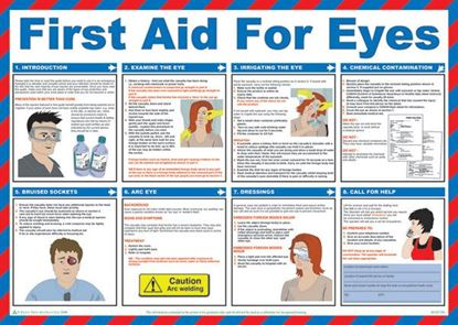 Picture of CLICK MEDICAL FIRST AID FOR EYES POSTER A602