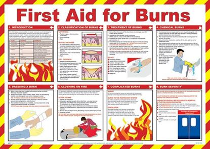 Picture of CLICK MEDICAL FIRST AID FOR BURNS POSTER A603