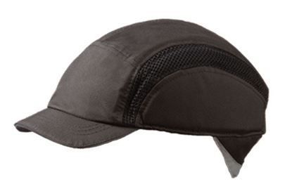 Picture of AIRPRO BASEBALL BUMP CAP REDUCED PEAK BLACK