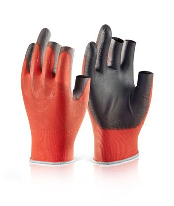 Picture of PU COATED 3 FINGERLESS GLOVE M (SIZE 8)
