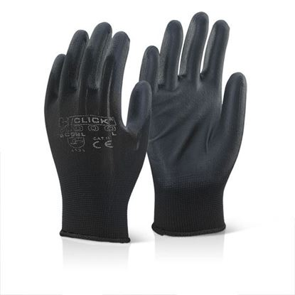 Picture of PU COATED GLOVE BLACK SMALL
