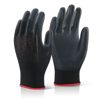 Picture of PU COATED GLOVE BLACK LARGE