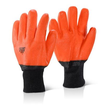 Picture of PVC H-VIS ORANGE FREEZER GLOVE