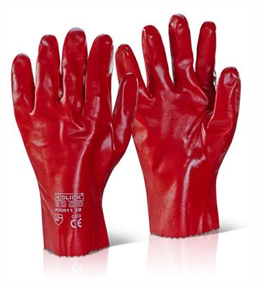 Picture of PVC GAUNTLET RED 11""