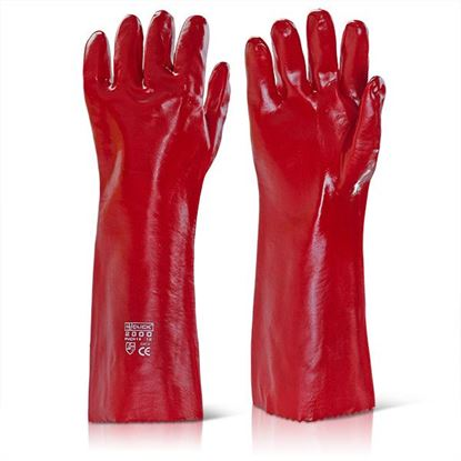 Picture of PVC GAUNTLET RED 18""