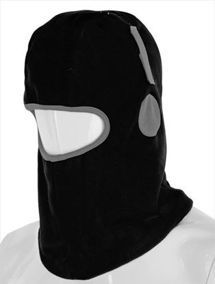 Picture of BALACLAVA THINSULATE LINED BLACK WITH HOOK AND LOOP