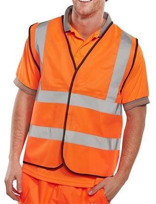 Picture of BSEEN EN ISO 20471 VEST ORANGE 4XL