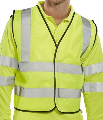 Picture of BSEEN EN ISO 20471 SHORT VEST S/YELL LGE