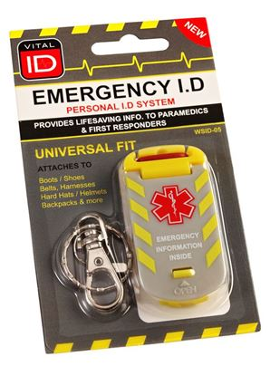 Picture of EMERGENCY ID UNIVERSAL FIT TAG WSID-05